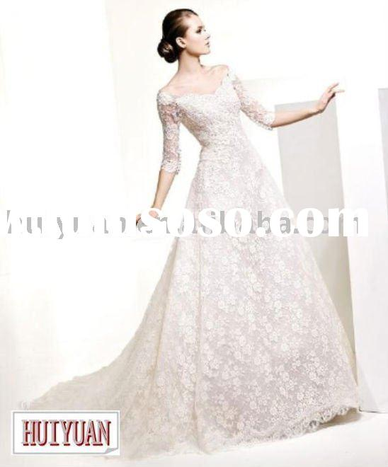 white lace long sleeve wedding dress 2011