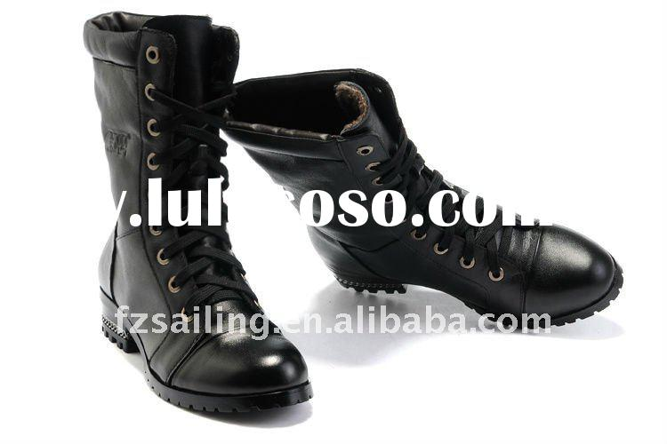 women's leather boots with secret height increasing