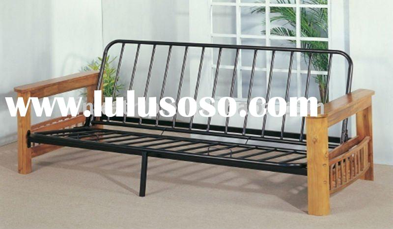 wood and metal bed furniture