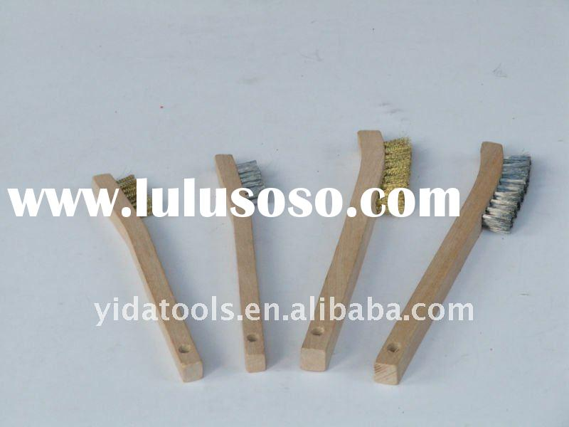 wood handle wire brush
