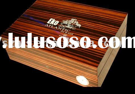 wooden box, wood box(logo on wooden humidor box)