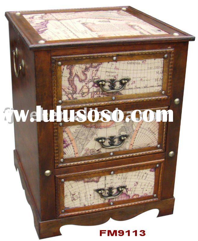 wooden cabinet ,bedside table ,with three drawers