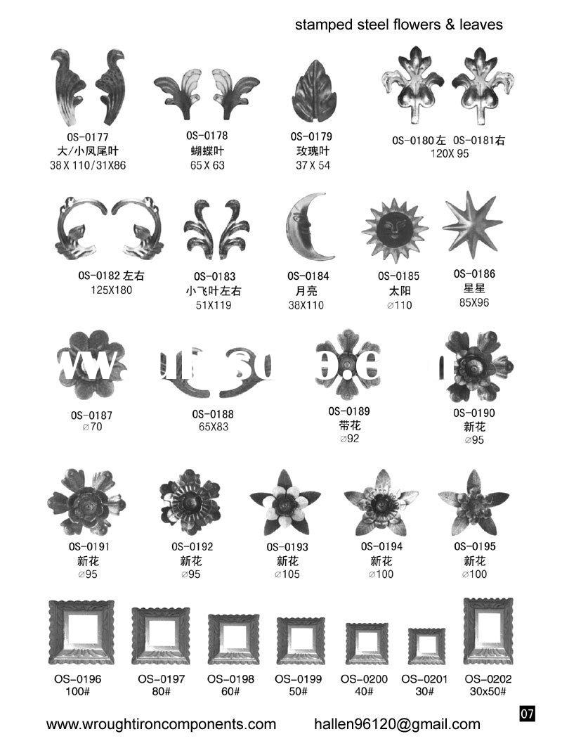 wrought iron decorative parts