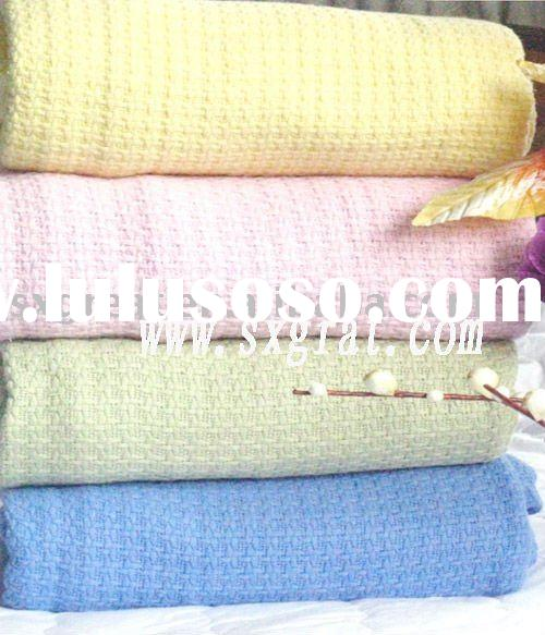 100 cotton blanket cellular blanket cotton hospital blankets