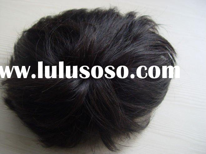 100% human hair wigs for men