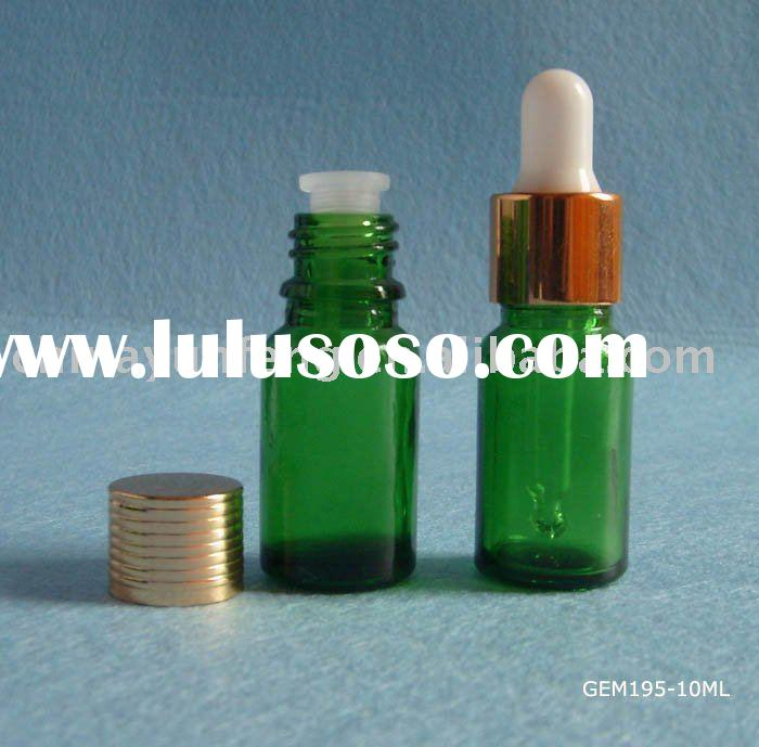 10ml Green Glass Bottle with screw cap and dropper