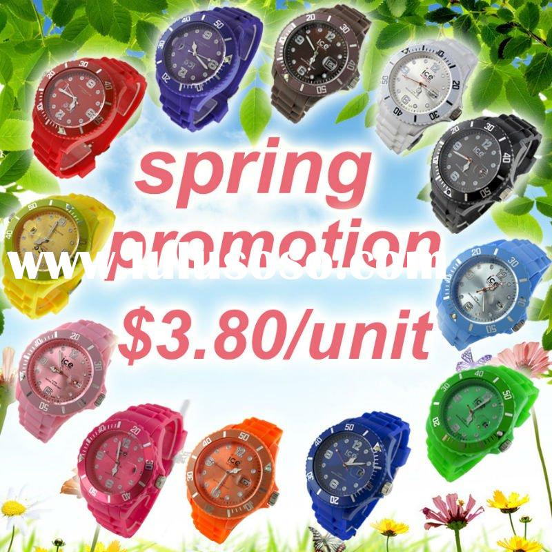 12 colors silicone watch on The Spring Promotion ! $3.80/unit silicone watch