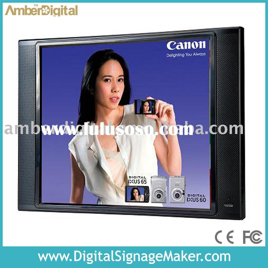 "19"" LCD digital signage, advertising display, in-store advertising player, CE&FCC"
