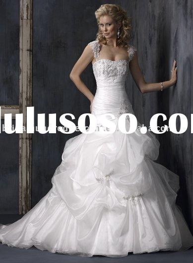 2010 elegant ball gown long train wedding dress,hotsale wedding gown