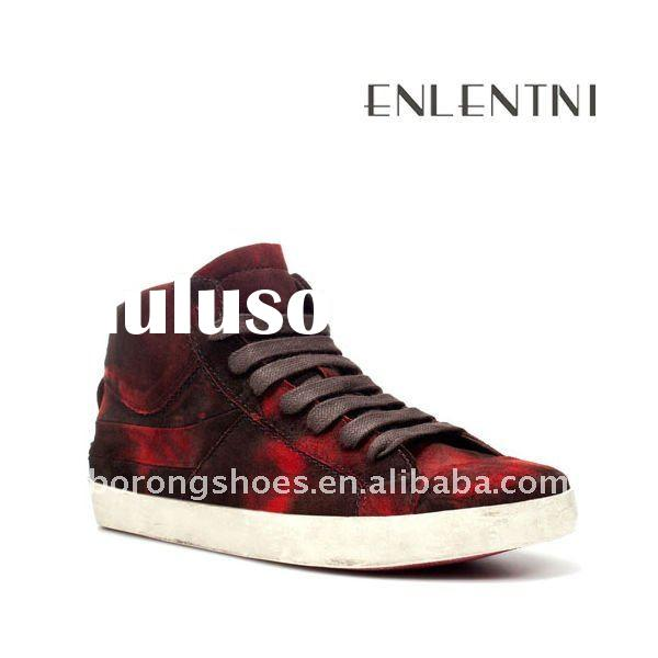 2011-2012 red top high heel casual shoes for men