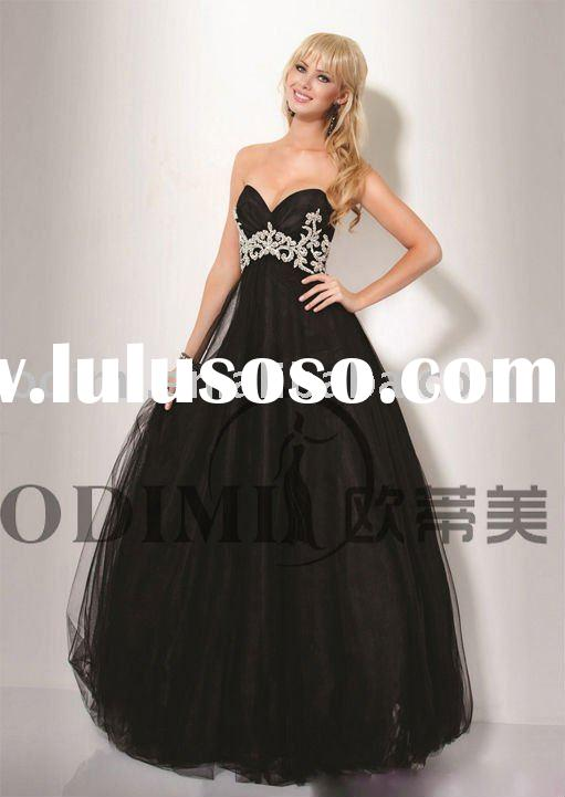 2011 Charming Strapless Red Carpet Prom Dress