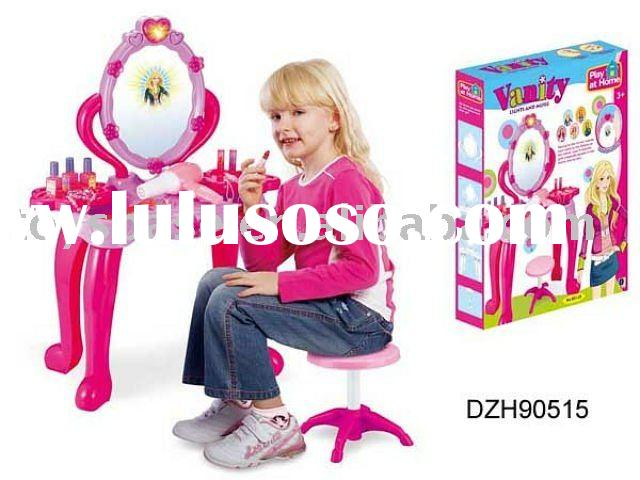 2011 Chrismas gift,girls toy make up mirror dressing table with chair