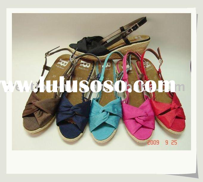 2011 Fashion Colourful pu lady sandal for good quanlity
