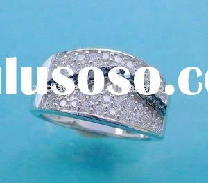2011 JUN NEW Design fashion micro ring hair extensions 925 stearling silver ring jewelry with cz sto