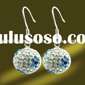 2011 Latest 925 Sterling Silver Jewelry , Fashion Earrings with Swarovski Crystal