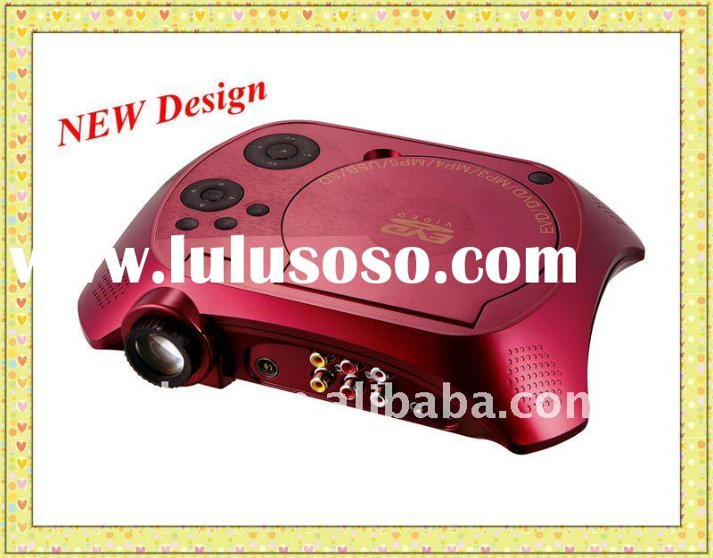 2011 NEW deisign hot selling home cinema portable dvd projector .With DVD,RMVB(MP5),TV,GAME,USB,SD,M