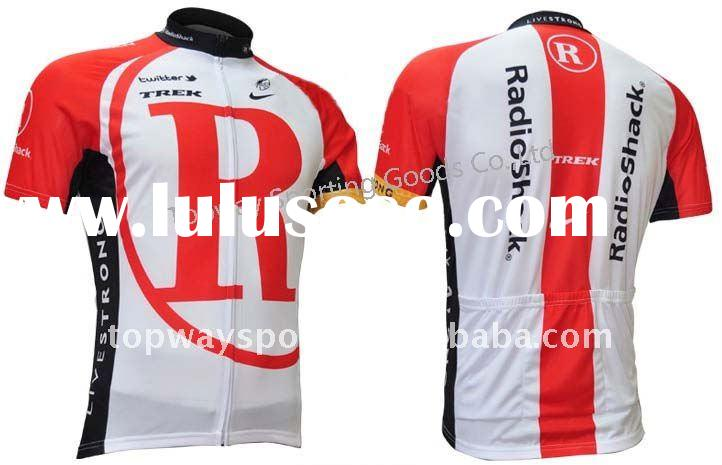 2011 New Radio shack sublimation printed cycling wear