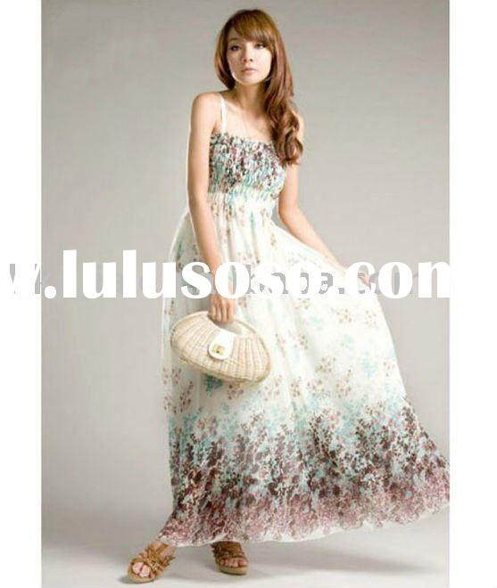 2011 Summer Printing Fashion Ladies Chiffon Dress