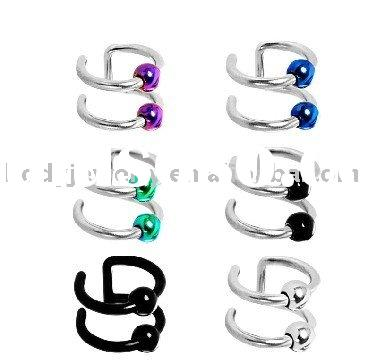 2011 fashion jewelry 316L Surgical Steel,Cartilage Earrings, Nose Jewelry, Non-pierce Jewelry