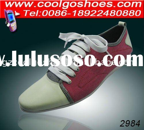 2011 hot sale canvas men casual shoes china and brand shoe