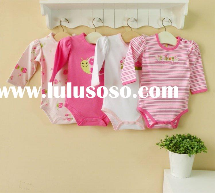 2011 mom and bab spring baby clothes cotton long-sleeve bodysuit 6-24months