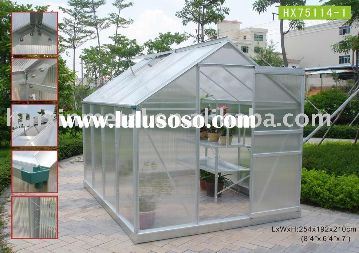 2011 most popular modular greenhouse kits,modular polycarbonae greenhouse/garden houseHX75114-1