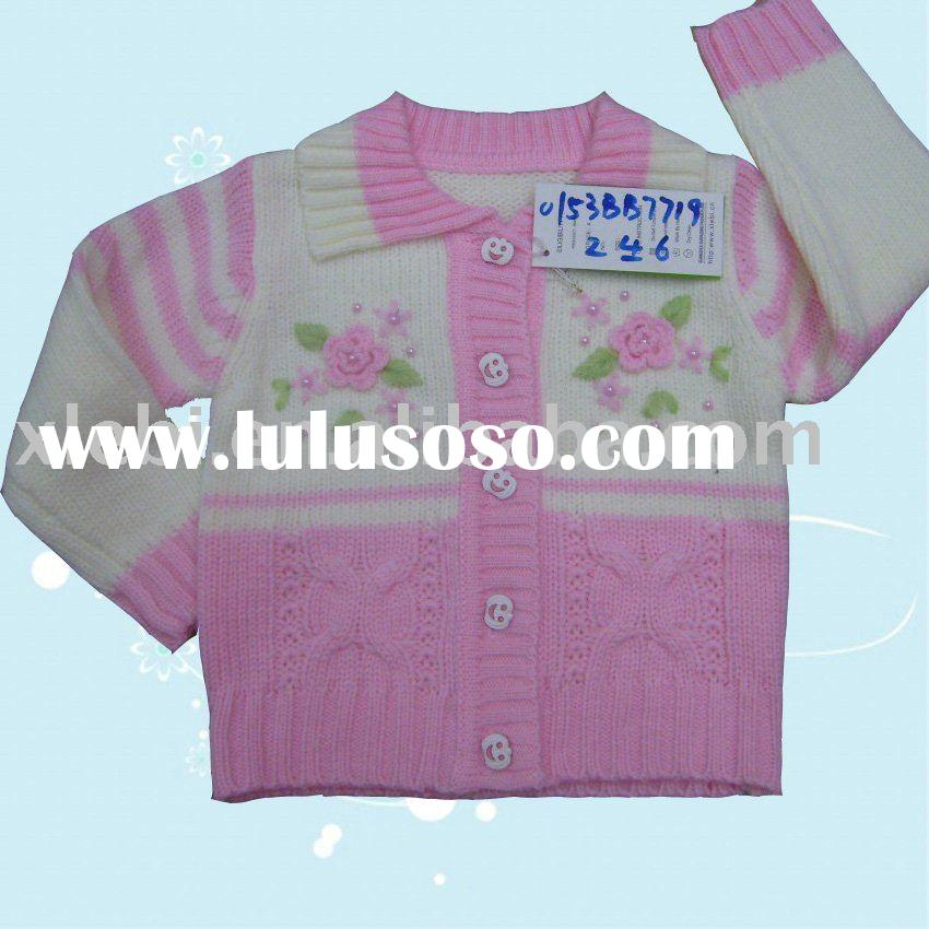 2011 new collection embroidery kids wear,children sweater,child clothes for girl's cardigan