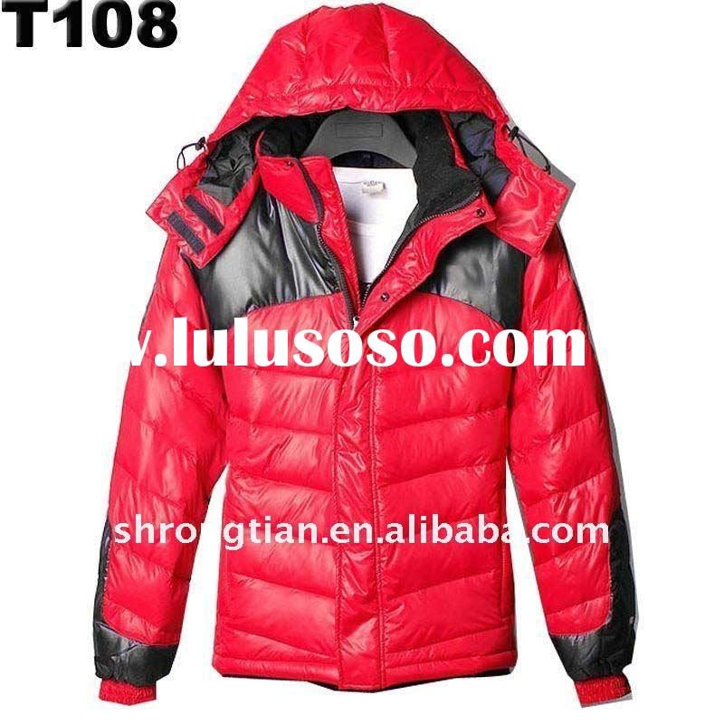 2011 new design Man's outdoor Parka down jacket for climbing and hiking