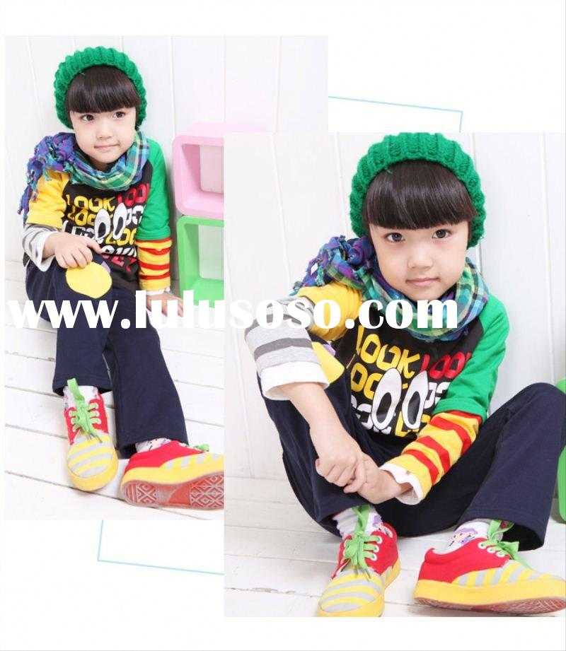 2011 new design fashion printing children's clothing set children's clothing small o