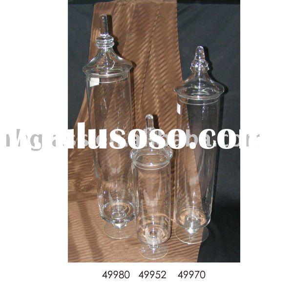 2011'new style glass craft/glass jar/Storage Bottles & Jars /glass vase/ 49952/70/80