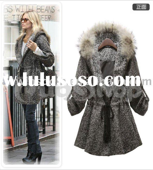 2011 newest style ladies rabbit fur coats