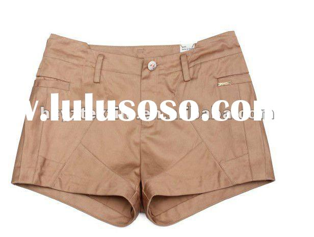 2012Summer new design 100%cotton knit shorts women cargo shorts