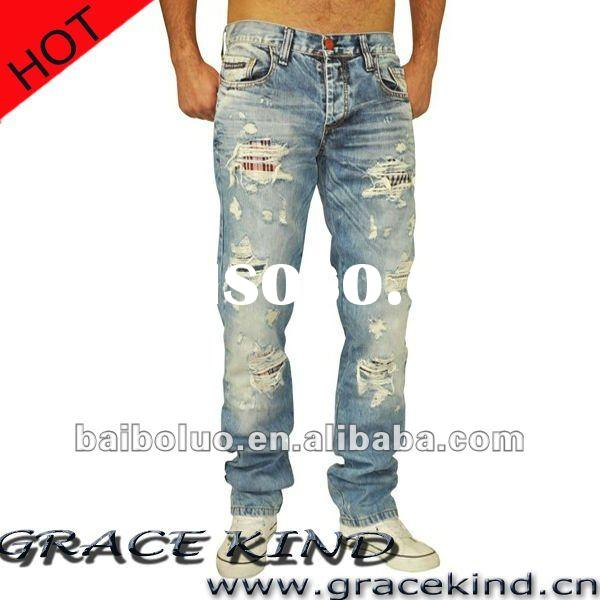 2012 Latest Design Jeans Brand,Fashion Blue Jeans for Men(GKMJ02154)