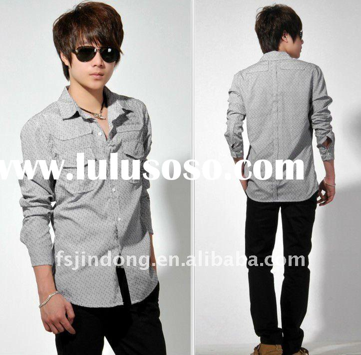 2012 New Men's cotton shirts/Fancy shirt/Mens dress shirts =JD-MJX0012