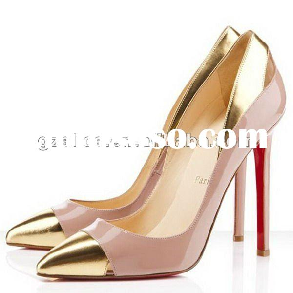 2012 New style pointy toe pumps shoes,patent leather dress shoes CL243