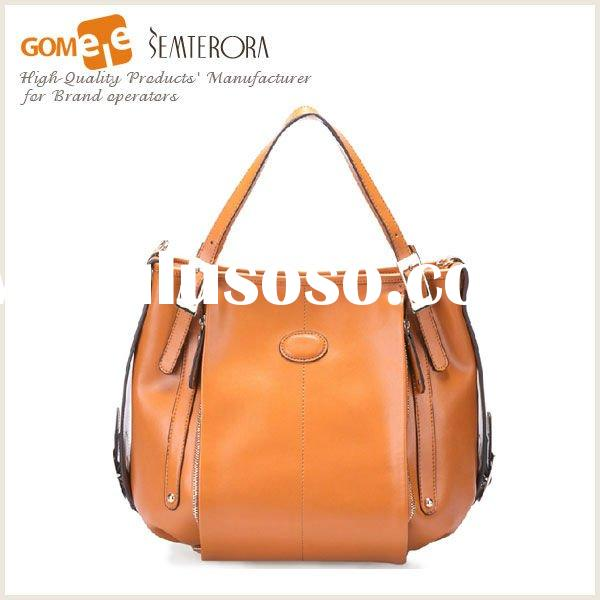 2012 Spring Hot Sale Leather Tote Bag,Ladies New Fashion Western Style Bag