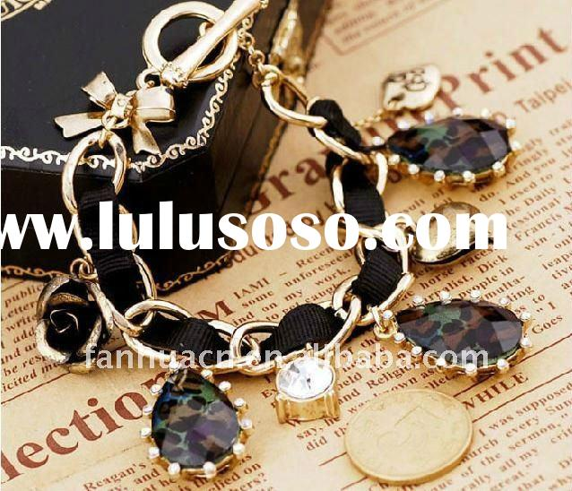 2012 latest new coming vintage crystal costume jewelry bracelet