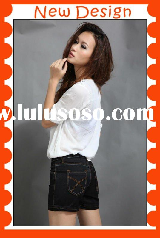 2012 new design jeans short, miss me jeans with bleaching