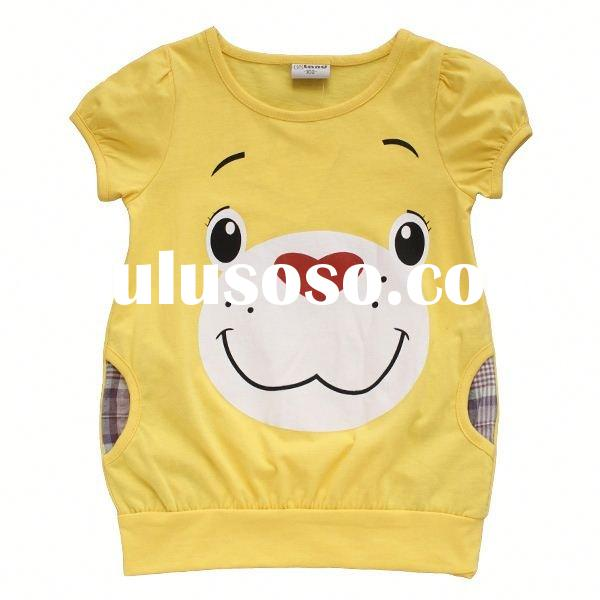 2012new design lovely korea style short sleeve T-shirt korean children clothing summer
