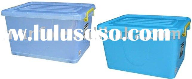 20L-70L plastic storage box with handle and wheel