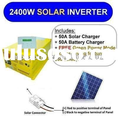 2400w 24v 50A Pure Sine Wave inverter SOLAR power inverter charger