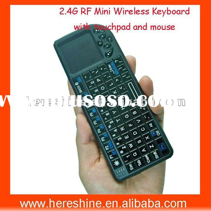 2.4Ghz Handy Wireless Keyboard with multi-touchpad and mouse for google tv