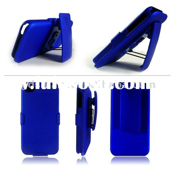2 in 1 PC SWIVEL BELT CLIP combo case with stand holster plastic cover for APPLE IPHONE 4 G 4S 4GS b