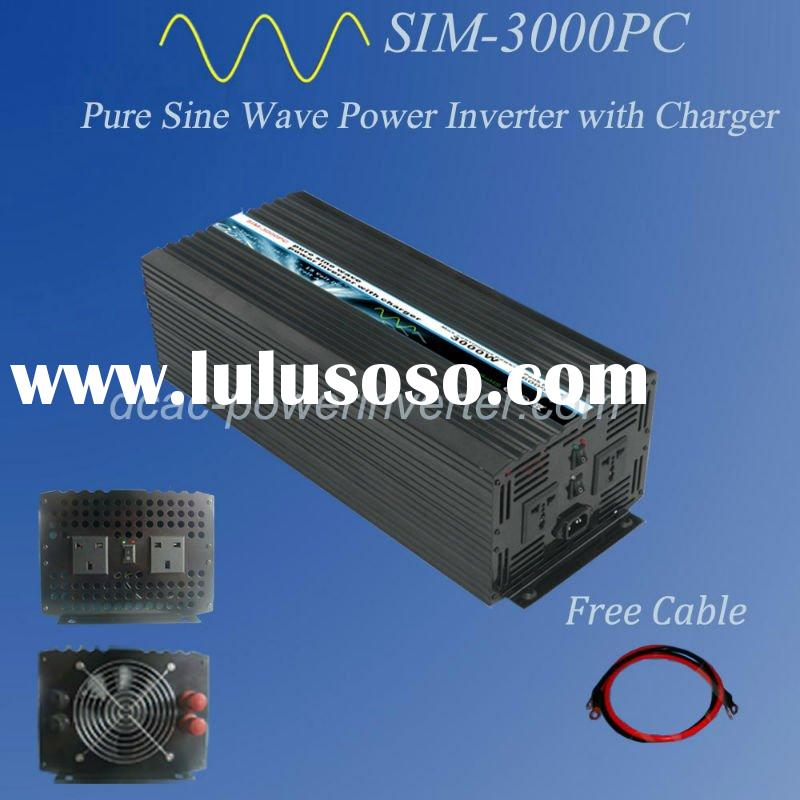 3000W DC24V to AC220V Pure Sine Wave Power Inverter With Charger Solar Power Inverter