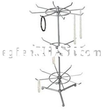 3 Tier Rotating Jewelry Display Rack Stand