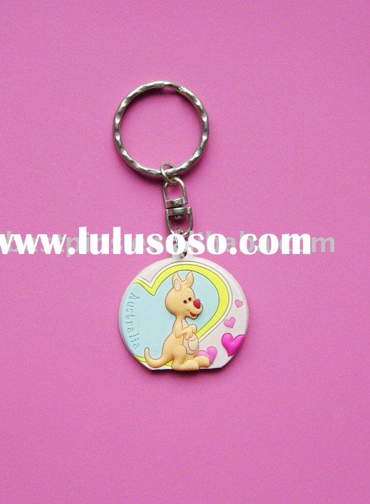 3d soft pvc key chain with kangaroo logo,3d soft pvc key ring,3d soft pvc key holder