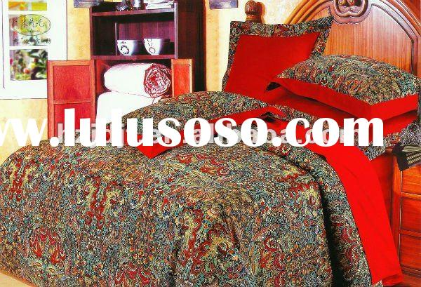 40S printing mercerized cotton bedding sets with 4pcs