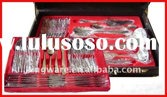 72&84pcs stainless steel cutlery set with wooden box