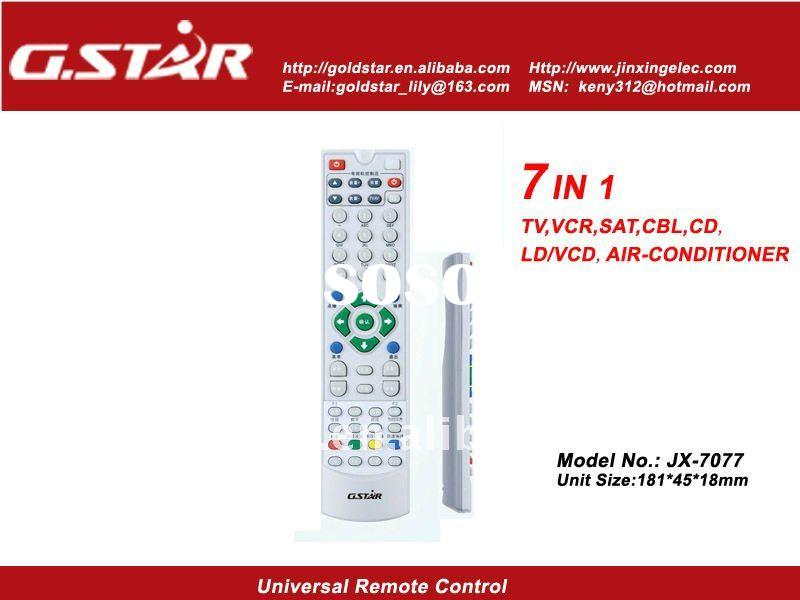7 in 1 Universal Remote Control operated TV VCR SAT/CABLE AUX for European Market