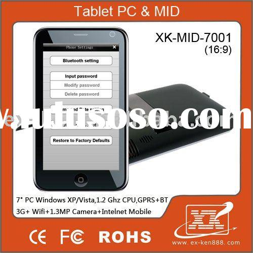 "7"" win xp MID touch screen with HIDM and camera , built in 3G,built in cell phone,GPRS, bluetoo"